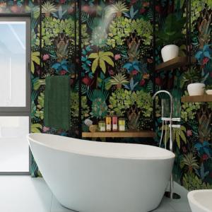 Projekt łazienki - dżungla